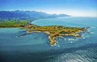 Kaikoura_Peninsula;Aerial;Kaikoura;seaward_Kaikoura_Range;green_fields;paddocks;