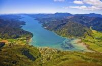 Aerial;Marlborough_Sounds;Marlborough;bush;native_forrest;hills;mountains;Anakiw