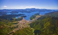 Picton_Harbour;Waikawa;Aerial;Picton;Marlborough_Sounds;Marlborough;bush;native_