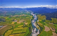 Aerial;Wairau_Plains_and_Coast;Marlborough;vineyards;braided_rivers;Wairau_River