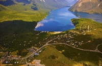 Aerial;Nelson_Lakes;St_Arnaud;mountains;hills;rivers;Road;State_Highway_63;bush;