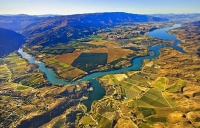 Aerial;Cromwell_Lake_Dunstan;Otago;Heritage_Museum;churches;church;Clutha_river