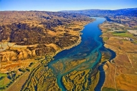 Aerial;Cromwell;Lake_Dunstan;Otago;Heritage_Museum;churches;church;Clutha_river;