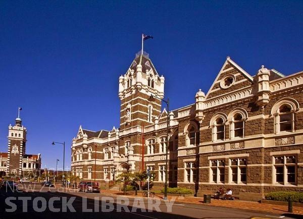 Dunedin;Otago;university city;university;harbour;golden sands;gothic buildings;Heritage Museum;law courts;Station;Train Station