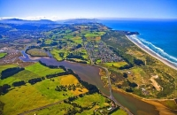 Aerial;Dunedin;Otago;university_city;university;harbour;golden_sands;gothic_buil