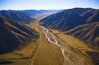 Aerial;Lindis_Pass;Central_Otago;Birchwood_Rd_Ahuriri_River