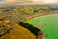 Aerial;Oamaru;harbour;Heritage_Museum;law_courts;Station;Train_Station;neo_class