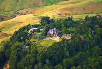 Aerial;Otago_Peninsula;Otago;harbour;golden_sands;Larnach_Castle