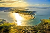 Aerial;Otago_Peninsula;Otago;harbour;golden_sands;Harington_Point;golden_light