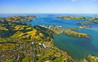 Aerial;Port_Chalmers;Otago_Peninsula;Otago;harbour;golden_sands;Heritage_Museum