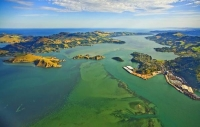 Aerial;Port_Chalmers;Otago_Peninsula;Otago;golden_sands;gothic_buildings;Heritag