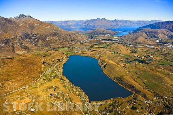 Aerial;Lake Hayes;Queenstown;Lake Wakatipu;Otago;autumn colour;fall colors