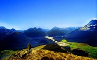 Aerial;Queenstown;Lake_Wakatipu;Otago;autumn_colour;fall_colors;Dart_River;Mount