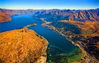 Aerial;Queenstown;Lake_Wakatipu;Otago;autumn_colour;fall_colors;Frankton;Flagsta