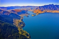 Aerial;Queenstown;Lake_Wakatipu;Otago;autumn_colour;fall_colors;Aerial;The_Remar