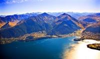 Aerial;Queenstown;Lake_Wakatipu;Otago;autumn_colour;fall_colors