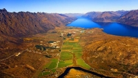 Aerial;Queenstown;Lake_Wakatipu;Otago;autumn_colour;fall_colors;The_Remarkables
