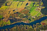 Aerial;Roxburgh;Otago;lake_Roxburgh;Clutha_River;church;churches;fruit_growing;h