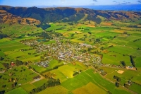 Aerial;Tapanui;Otago;Blue_Mountains;sheep_farming;sheep_country;sheep;golf;golf_