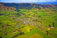 Aerial;Tapanui;Otago;sheep;sheep_country;sheep_farming;Blue_Mountains;golf;golf_