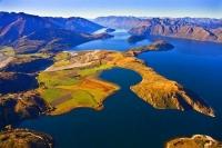 Aerial;Wanaka;Otago;lake_Wanaka;Clutha_River;Roys_peninsula