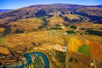 Aerial;Wanaka;Otago;lake_Wanaka;Clutha_River;Luggate;Township