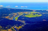 Aerial;Greymouth;West_Coast;State_Highway_6;mountains;valleys;Grey_river;Tasman_