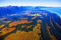 Aerial;Jacksons_Bay;West_Coast;mountains;valleys;river;Tasman_Sea