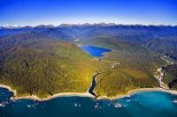 Aerial;Haast_to_Hokitika;West_Coast;mountains;valleys;river;Tasman_Sea;State_hig