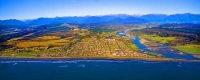 Aerial;Hokitika;West_Coast;State_Highway_6;mountains;valleys;Hokitika_river;Tasm