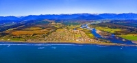 Aerial;Hokitika;West_Coast;State_Highway_6;mountains;valleys;Hokitika_river;Tasm