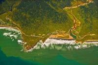 Aerial;Punakaiki_Coast;West_Coast;Highway_6;mountains;valleys;Pororari_river;Tas