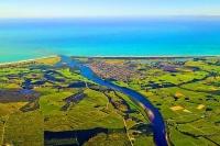 Aerial;Westport;West_Coast;harbour;airport;Buller_river;Tasman_Sea;fishing_port