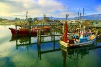 Westport;West_Coast;harbour;Buller_river;Tasman_Sea;fishing_port;Fishing_boats;h